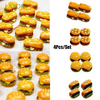 Bộ 4 đồ chơi làm bánh Hamburger tỉ lệ 1 : 12