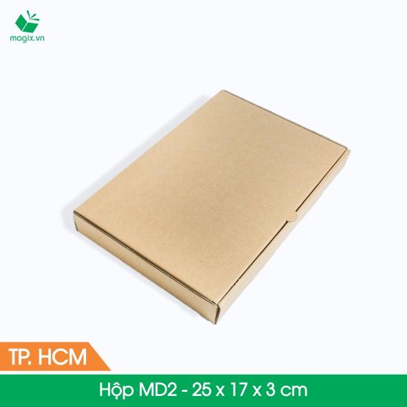 MD2 - 25x17x3 cm - 25 Thùng hộp carton