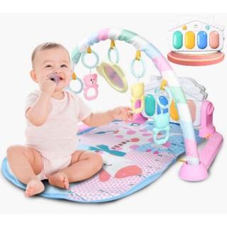 Thảm nằm chơi cho bé sơ sinh phát nhạc, hình hươu, màu hồng, mẫu mới 2020