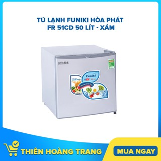 [ELHAC7 Giảm 7% Tối Đa 300K] Tủ lạnh mini Funiki Hòa Phát FR 51CD 50 lít – xám – Chỉ giao khu vực HCM