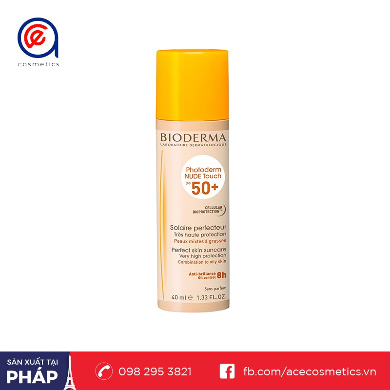 Kem Chống Nắng Bioderma Photoderm Nude Touch Light Tint SPF 50+ 40ml