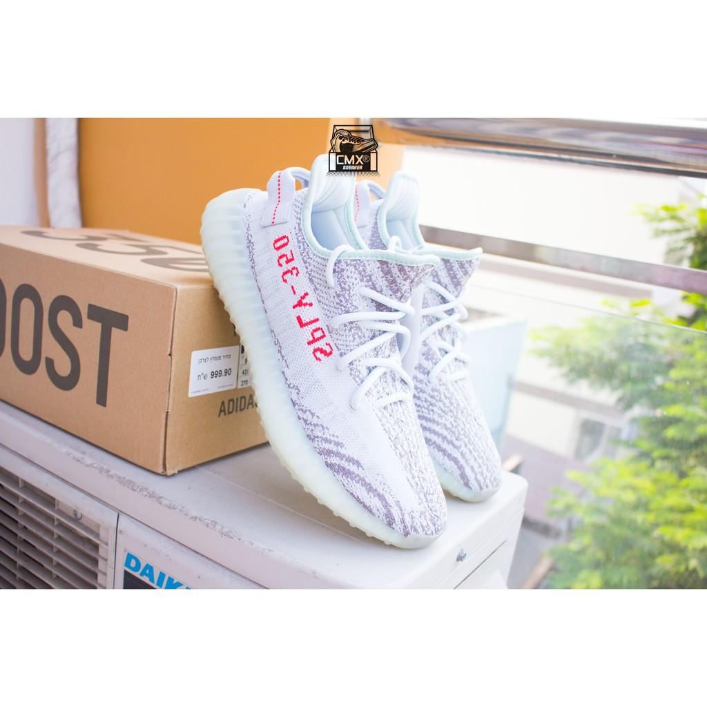 😘 [ HÀNG CHÍNH HÃNG ] Giày Adidas Yeezy 350V2 Blue Tint - Size 42.7 - REAL AUTHETIC 100%