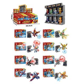 8in1 Đồ chơi lắp ráp Iron Man non lego, ironman lắp ráp, marvel lắp ráp, phòng iron man, mô hình, xếp hình, 8 bộ