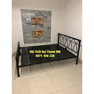 Giường sắt kiểu gỗ Đại Thành 2 – 1M6X2M, tháo lắp dễ dàng, miễn phí vận chuyển nội thành Hà Nội