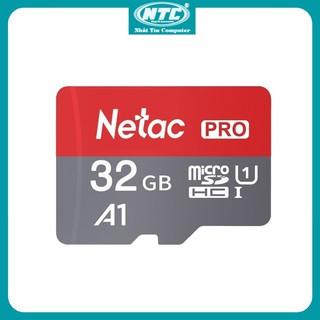 Thẻ nhớ MicroSDXC Netac Pro A1 32GB 667x U1 2K 98MB/s - Không Box (Xám) - Nhất Tín Computer