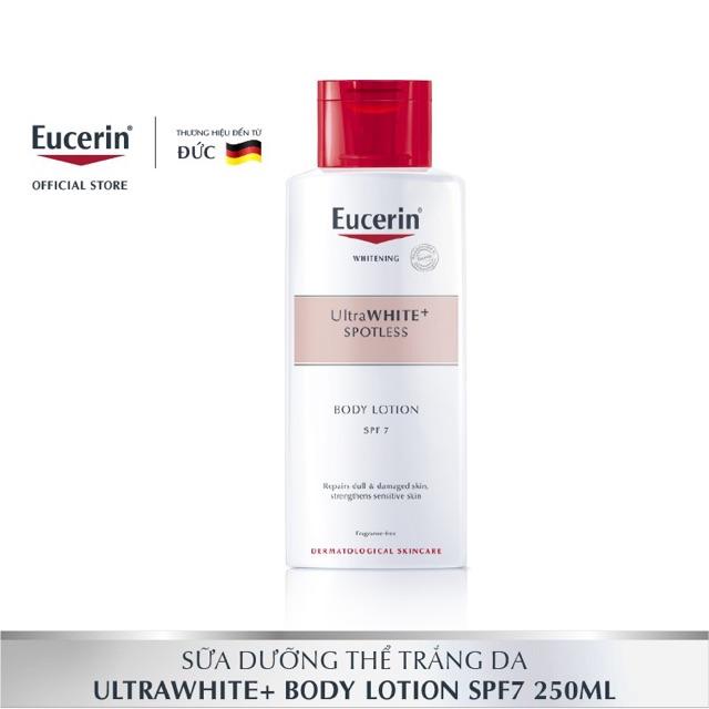 Kem Dưỡng Thể Trắng Da Eucerin Ultra White+ Spotless Body Lotion Spf7 250ml