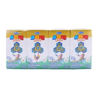 Combo 3 lốc sữa dinh dưỡng tiệt trùng ADM Gold Vinamilk có đường 110ml thumbnail