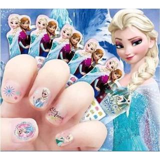 Set 5 tấm dán móng tay trẻ em (elsa,Disney, mickey,… giao hình ngẫu nhiên)