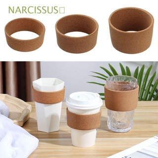 NARCISSUS💎 Durable Glass Cups Wrap Household Mug Holder Cork Cup Sleeve Portable Heat-Resistant Heat Insulation Non-slip Reusable Anti-Hot Glass Bottle Cover