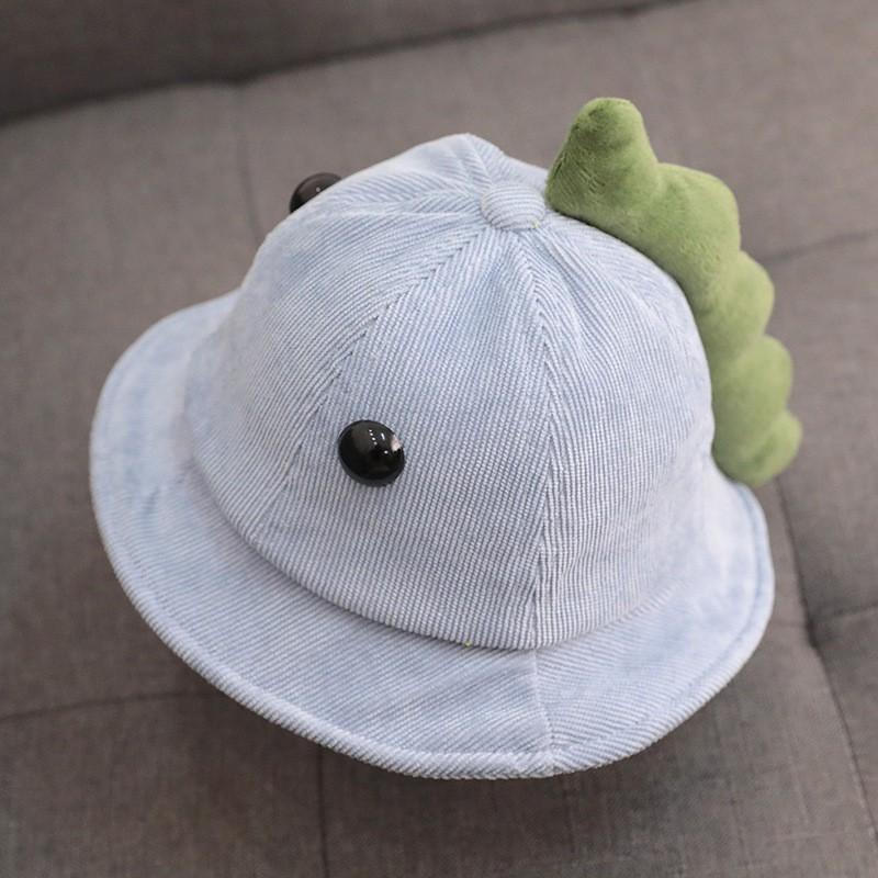 Mũ vành rộng cho bé ❤️FREESHIP❤️ Mũ nón rộng vành dễ thương hình con khủng long cho bé trai bé gái siêu mềm mại