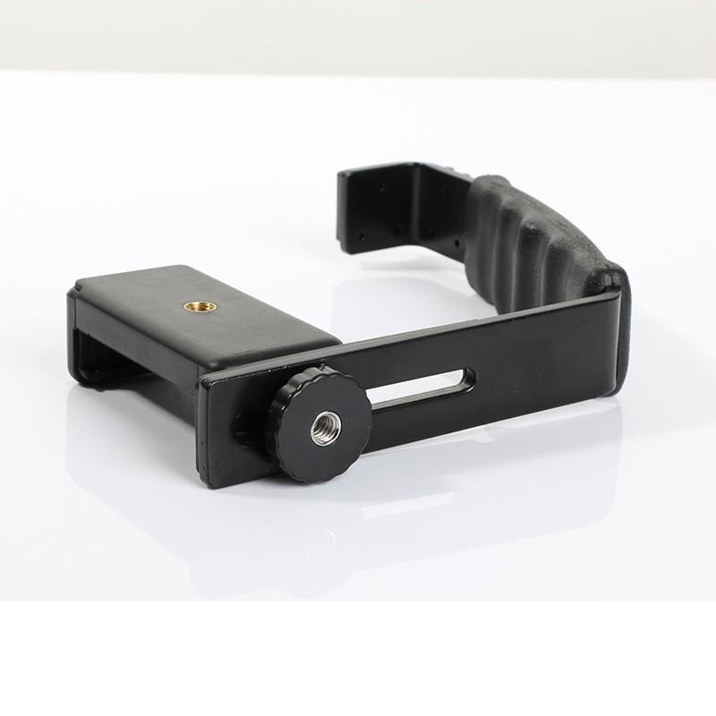 Giá đỡ chữ L cho micro và điện thoại, máy ảnh, đèn Flash, Gimbal, chất liệu hợp kim nhôm