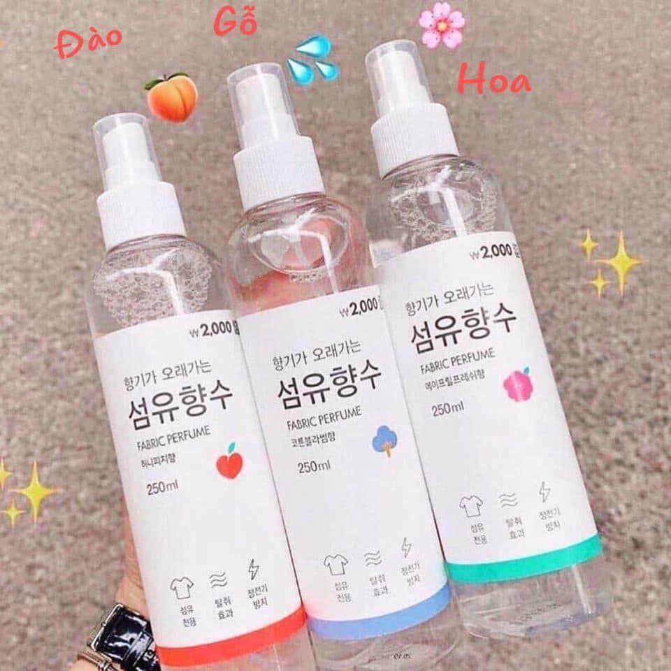 Xịt Thơm Fabric Perfume Quần Áo Hàn Quốc 250ml | Shopee Việt Nam