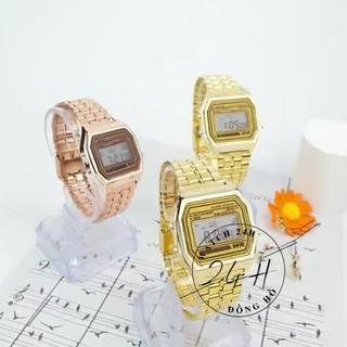 Đồng hồ nam nữ unisex TREND21 , dây kim loại nhiều màu , full chức năng điện tử