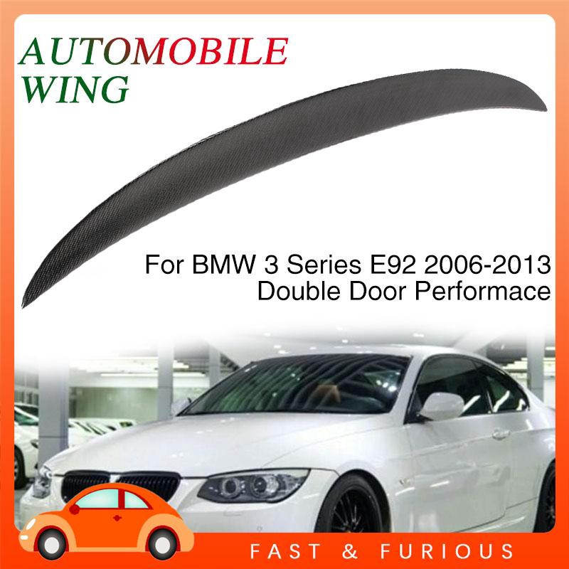 UU BMW 3 Series E92 Trunk Rear Wing Car Tail Wing Black 2-Drs Coupe Spoiler Weather Proof Decor Trim