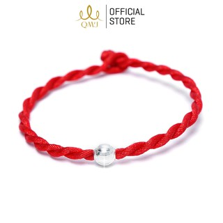 Vòng tay sợi chỉ đỏ mix Bi bạc 925 may mắn QMJ dây lụa xoắn, trang sức xinh xắn