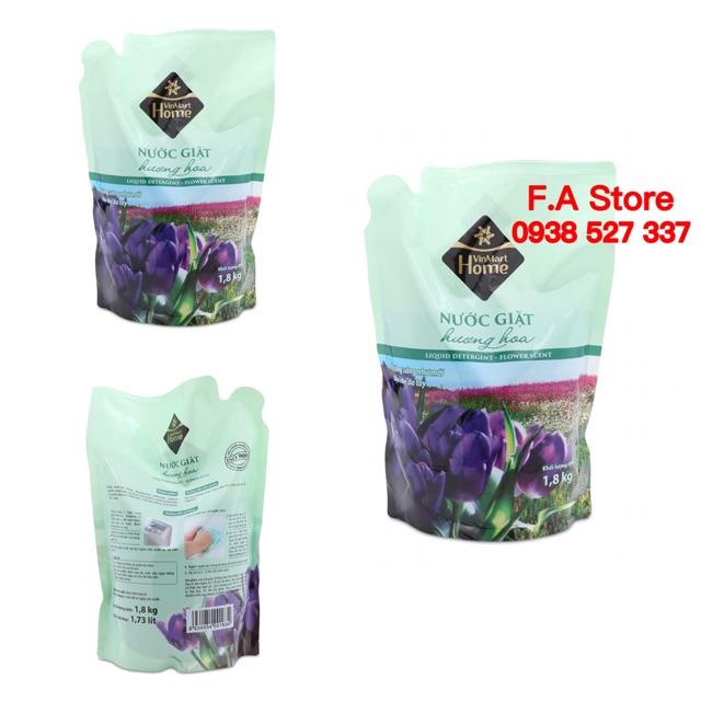 Sỉ 3 túi nước giặt hương hoa dạng túi 1,8kg/túi