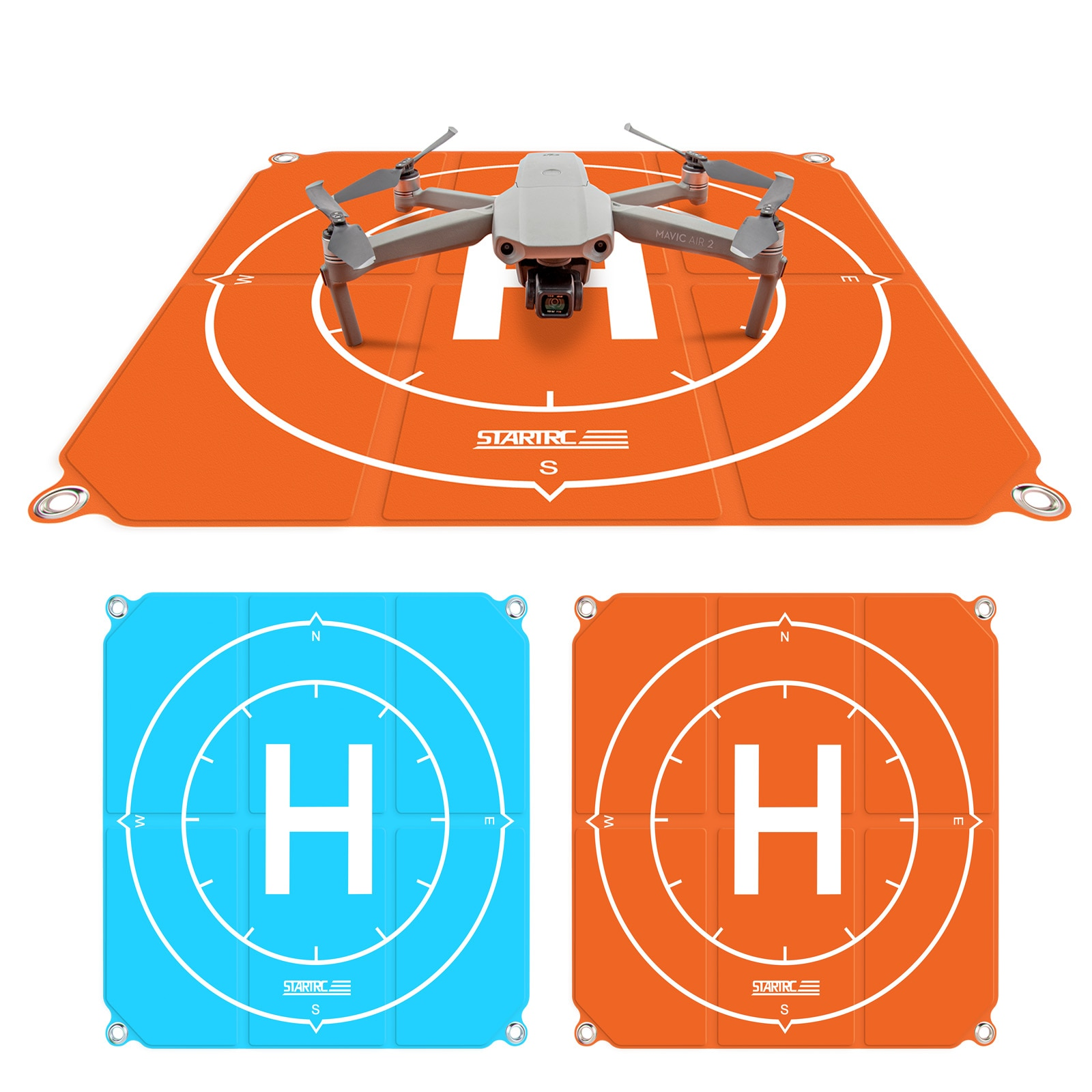 "STARTRC Drone Landing Pad 50cm 19"" Waterproof Foldable Parking Apron For DJI Mavic Mini 2/Mavic Air 2/Mavic 2 Pro/DJI FPV Drone"