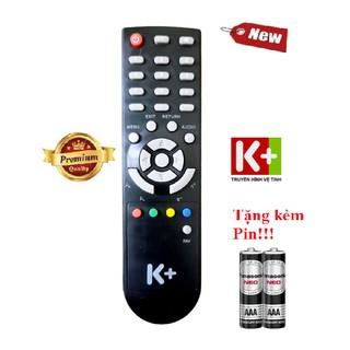 [Mã ELORDER5 giảm 10k đơn 20k] Điều khiển đầu thu truyền hình số vệ tinh K+ Hàng tốt chính hãng- Tặng kèm Pin