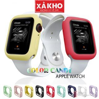 Ốp Bảo Vệ Apple Watch Color Candy Series 5 4 3 2 1 38mm 42mm 40mm 44mm Chống Trầy Sước Va Đập thumbnail