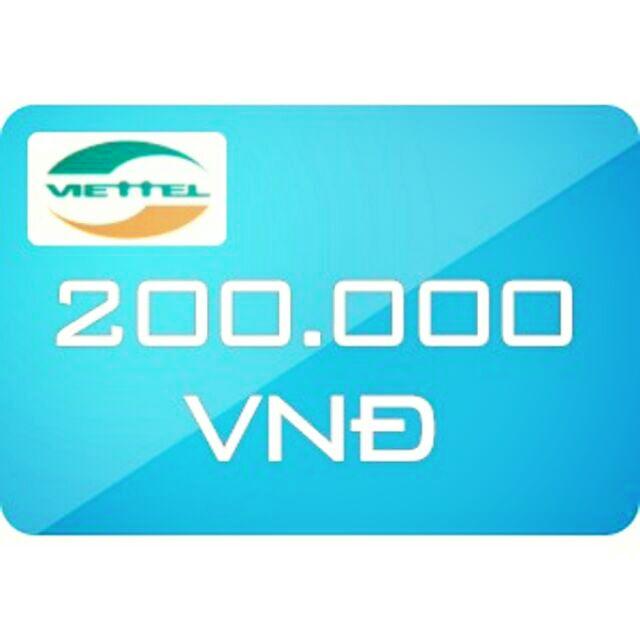 Nạp tiền Viettel 200k siêu rẻ