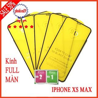 Kính cường lực Iphone XS Max full màn hình, Ảnh thực shop tự chụp, tặng kèm bộ giấy lau kính taiyoshop2 thumbnail