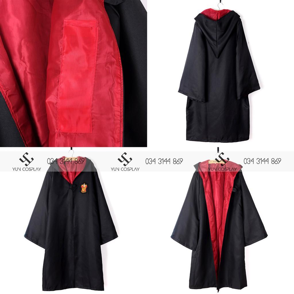 Áo choàng Harry Potter màu đỏ | Nhà Gryffindor