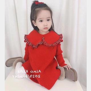 Váy bé gái dễ thương dày cored váy búp bê váy mùa đông 2-7 tuổi
