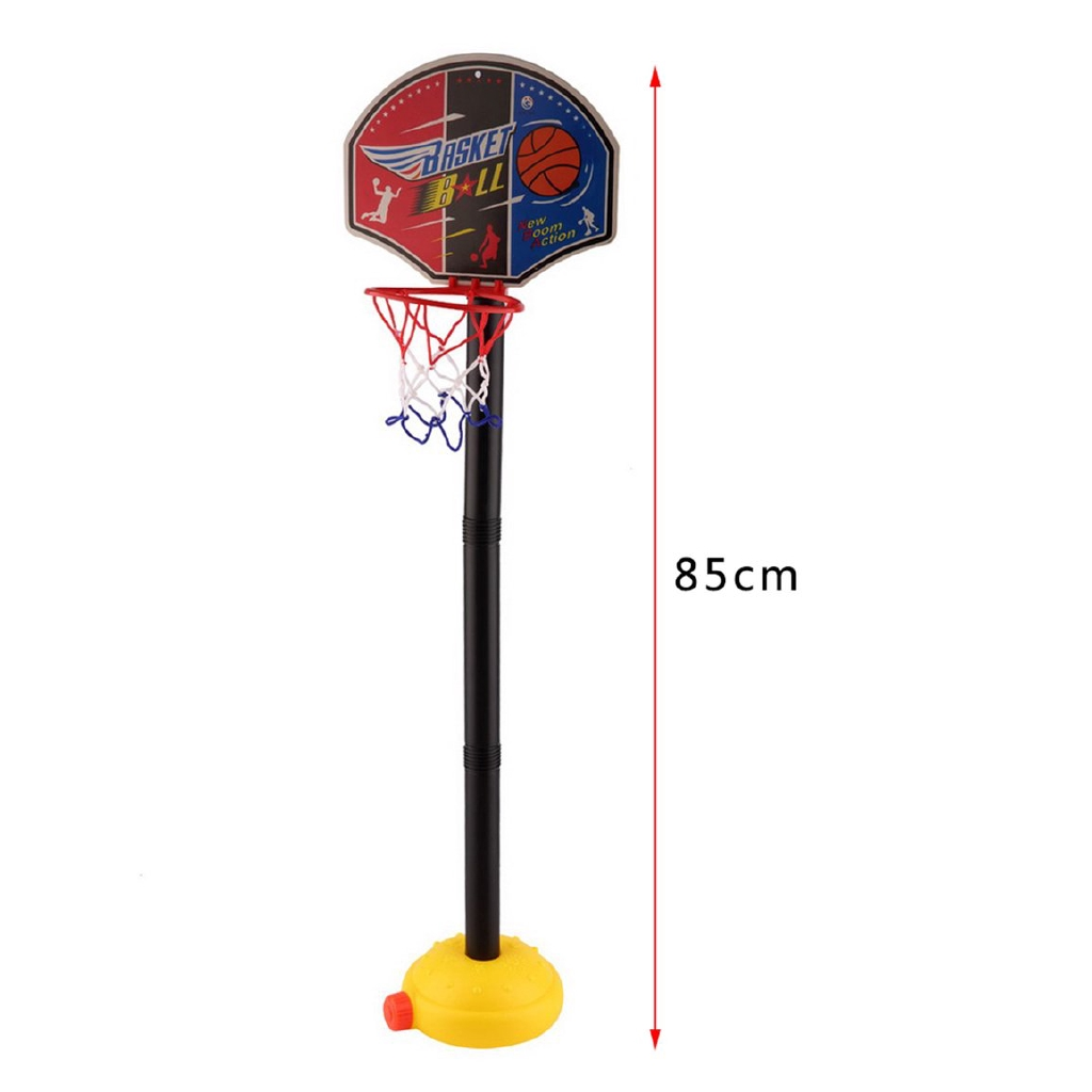 Kids Sports Portable Basketball Toy Set with Stand Ball & Pump Toddler Baby