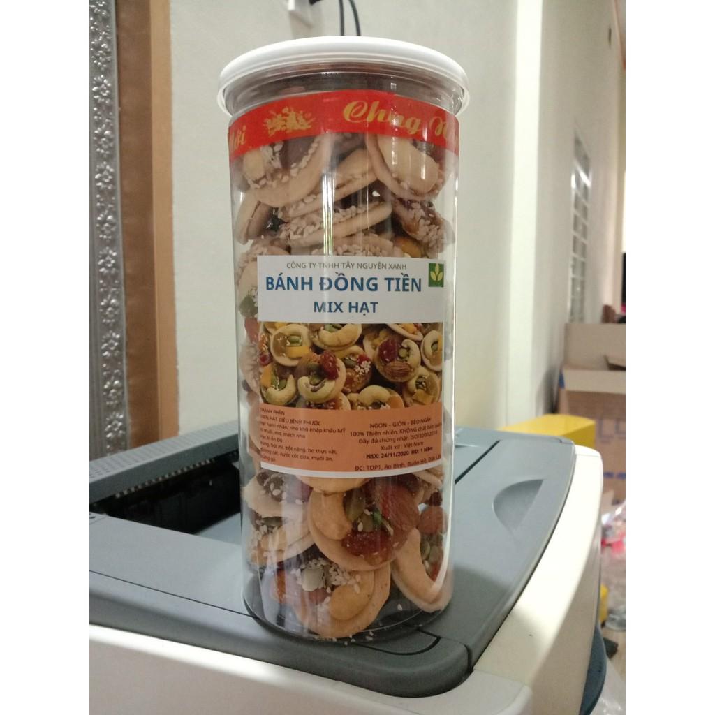 [Ngon Tuyệt] Bánh Đồng Tiền Mix Hạt, Giàu Dinh Dưỡng: Hạt Điều, Hạnh Nhân, Nho khô, mè, mạch nha..bánh mix hạt, hạt điều