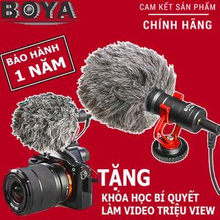 Micro BOYA BY-MM1 Thu Âm Chuyên Nghiệp Cho Máy Ảnh DSLR, Camera, Điện Thoại