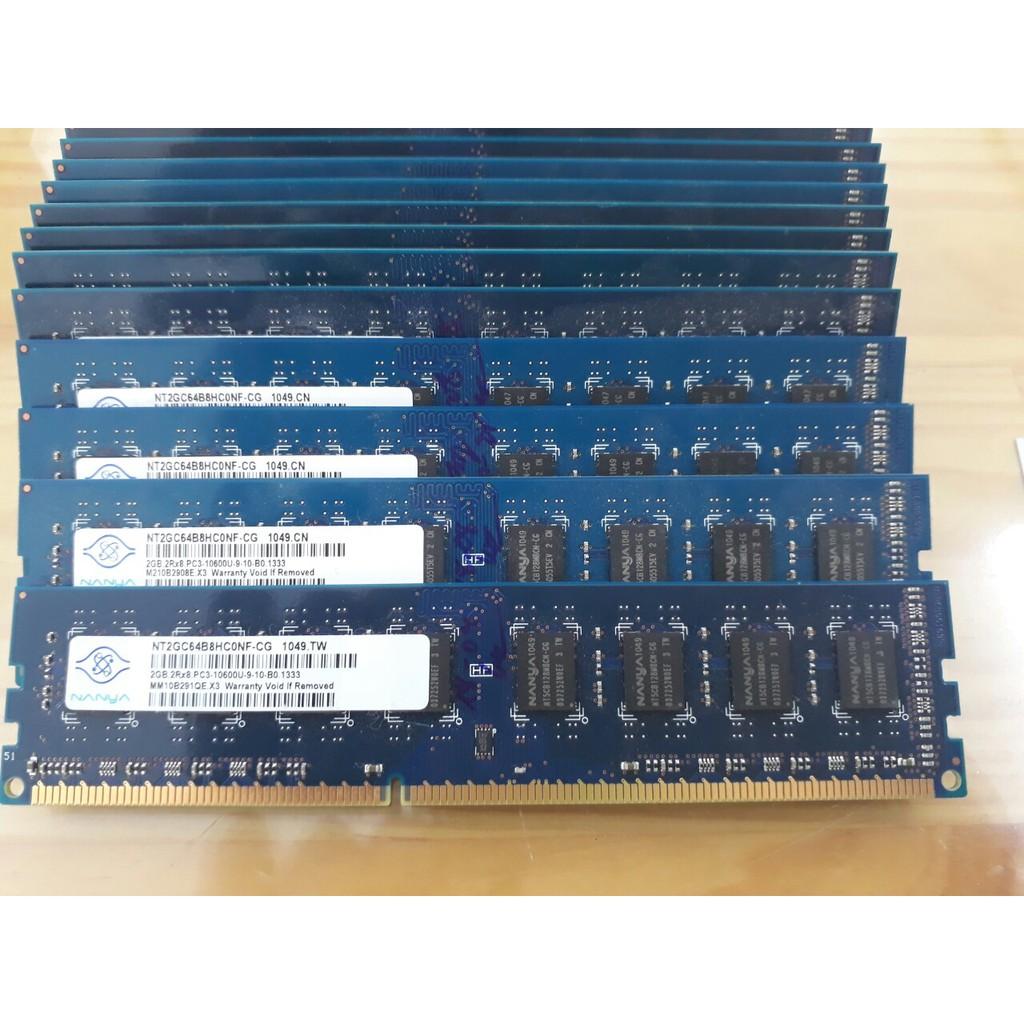 Ram DDR3 2G bus 1066, 1333 Hàng tháo máy bộ mới keng cho máy bàn
