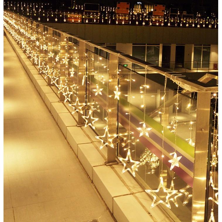 Đèn Nháy Thả Mành Trang Trí Hình Ngôi Sao Decor Nhà Cửa Phòng Ngủ Đèn Trang Trí