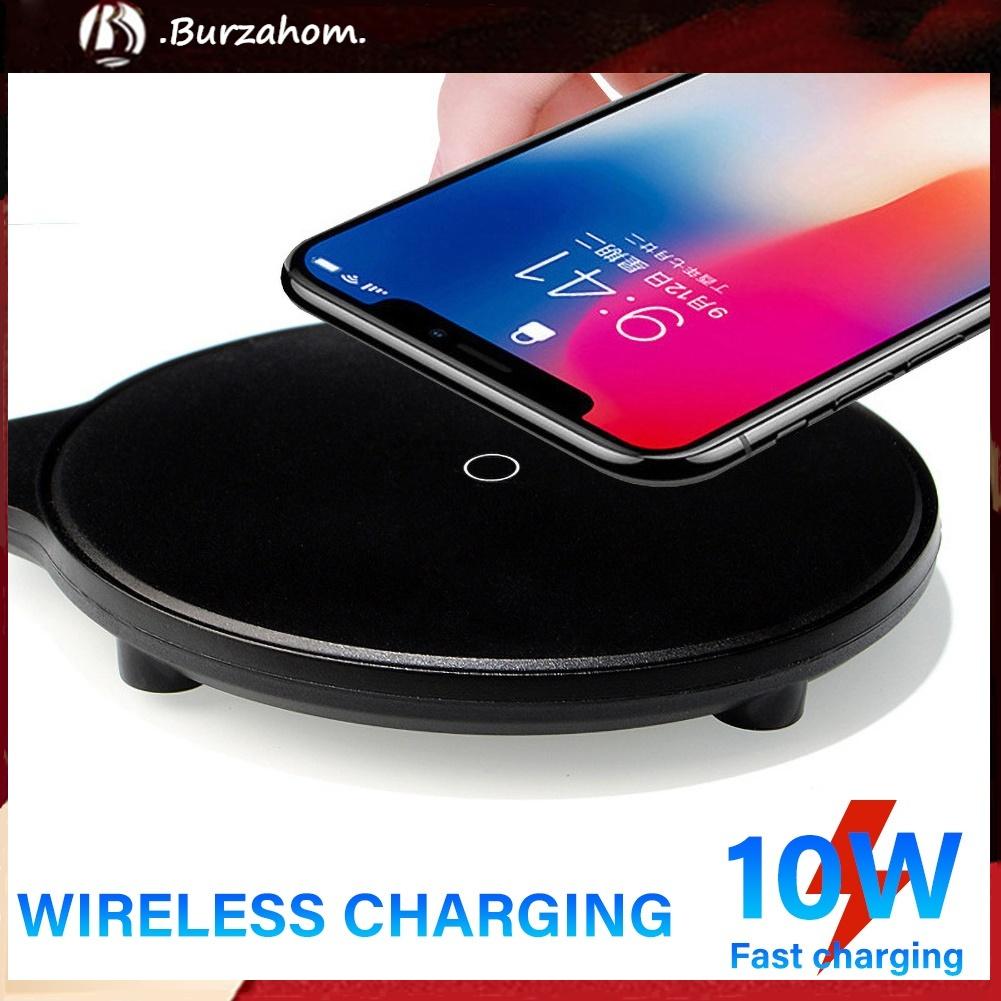 Đế Sạc Nhanh Không Dây 5w / 10w Nhỏ Gọn Tiện Dụng Cho Iphone X Xs 11 Pro Max