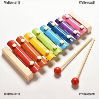 AYellowcat 1X Cute 8 Tone Xylophone Musical Toys Wisdom Development Wooden Toy for Baby Kid