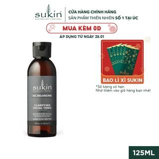 Nước Cân Bằng Cân Bằng Dầu Sukin Oil Balancing Clarifying Facial Tonic 125ml thumbnail