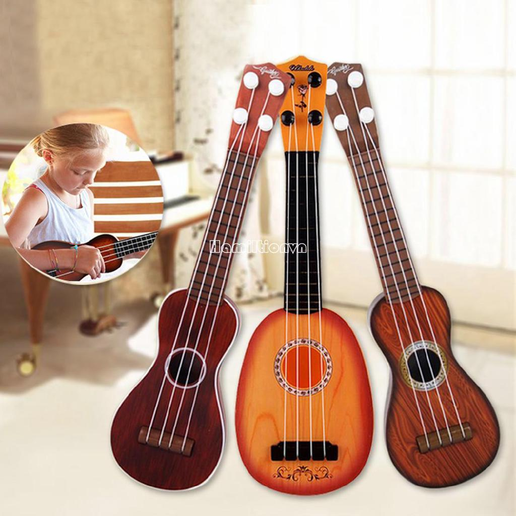 ❤COD Kids Ukulele Simulation Fruits Shaped Guitar Toys Mini Musical Instruments Toys