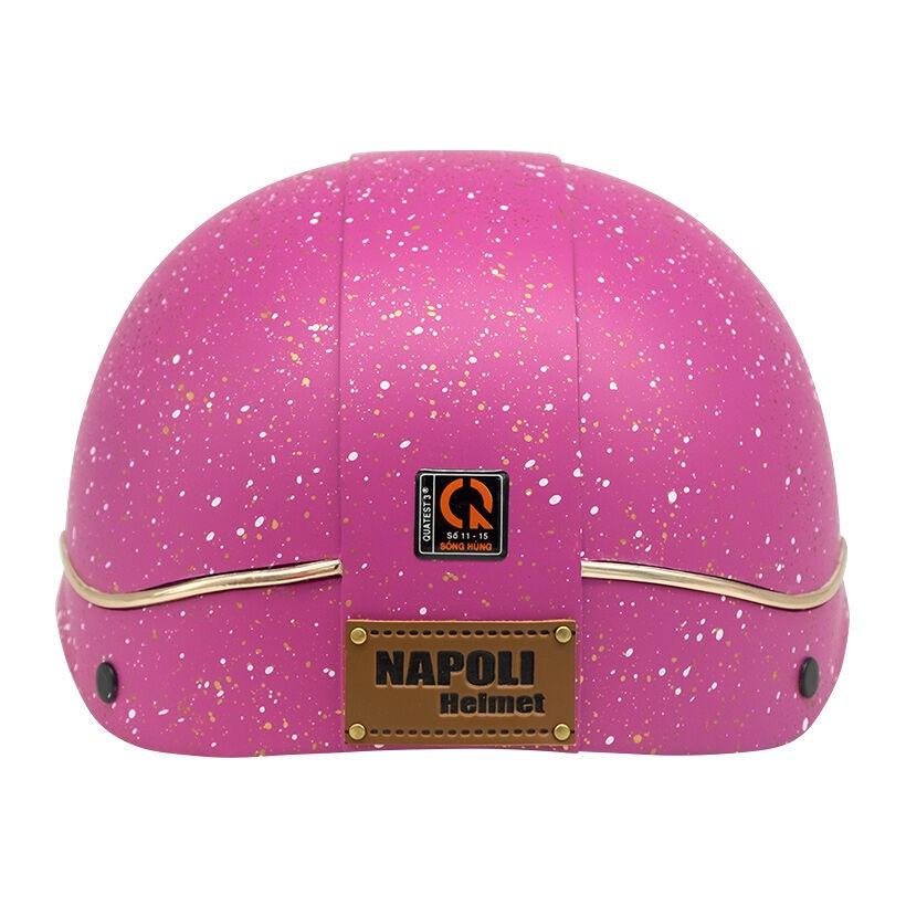 Mũ bảo hiểm nữa đầu Napoli X105 Freesize (Hồng)