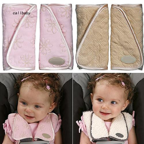 CLBB_1 Pair Baby Padded Car Seat Belt Covers Pads Highchair Stroller Shoulder Protector