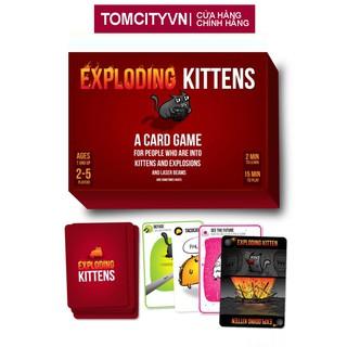 Bộ Mèo Nổ cơ bản Exploding Kittens phổ biến bản đỏ tiêu chuẩn thumbnail