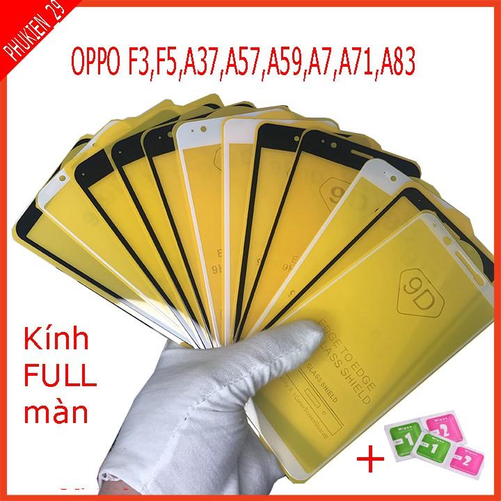 Cường lực FULL màn OPPO F3,F5,A37,A57,A59,A7,A71,A83 , Tặng kèm giấy lau kính khô và ướt phukien_29