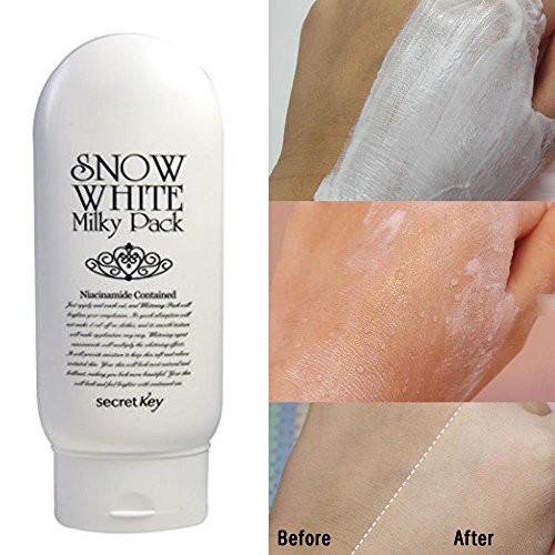 Kem Tắm Trắng Secret Key Snow White Milky Pack 200gr