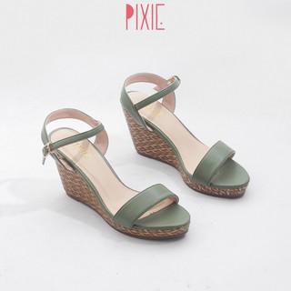 Giày Sandal Đế Xuồng 7cm Quai Ngang Đế Đan Tre Pixie X451 thumbnail