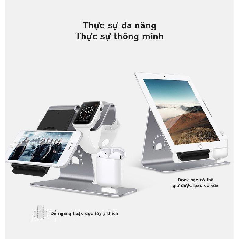 Thiết bị sạc thông minh cho tất cả thiết bị apple 3in1