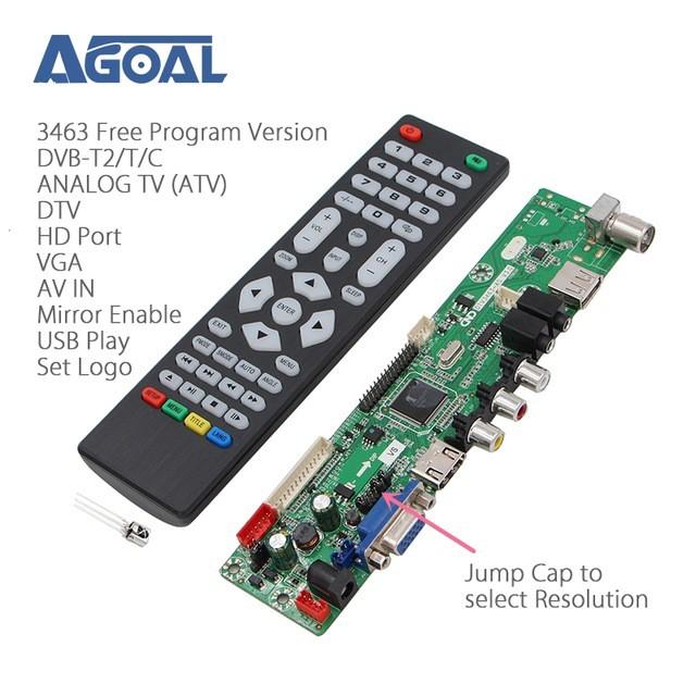 DTV3663-AS V2.1 bo TV LCD Led đa năng DVB-T2 truyền hình số mặt đất