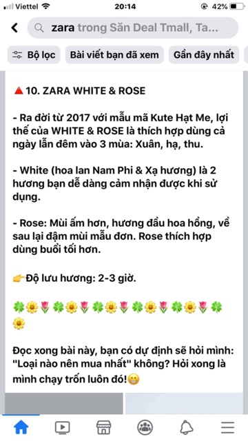 Nước hoa Zara Rose 100ml