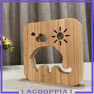 Đèn Led Để Bàn Hình Con Voi Bằng Gỗ Dùng Trang Trí Phòng Ngủ Cổng Usb Lacooppia1