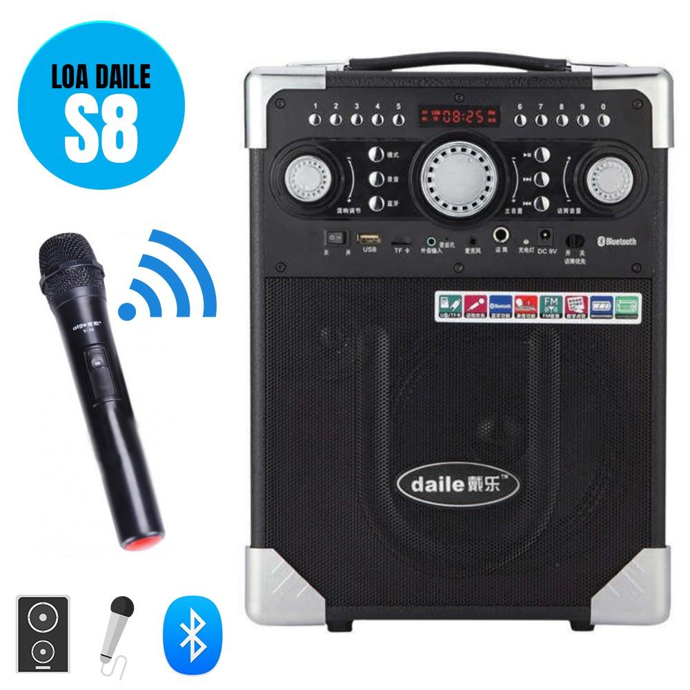 Loa Karaoke Bluetooth Daile S8 Âm Thanh Cực Khủng - BH 6 tháng