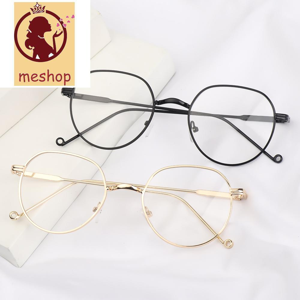 🍒ME🍒 Unisex Optical Spectacle High-definition Eyeglasses Flat Mirror Eyewear Round Frame Ultralight Fashion Metal Myopia Glasses/Multicolor