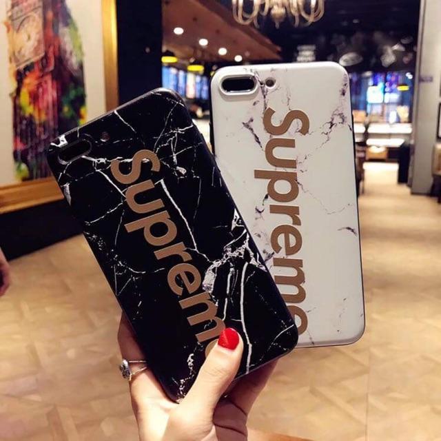 Ốp supreme vân đá cho iphone