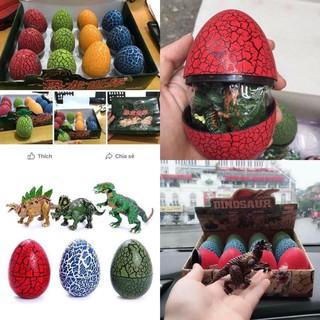 [Tmark Việt Nam]Mô hình 12 quả đồ chơi bóc trứng khủng long lắp ghép sáng tạo cho bé